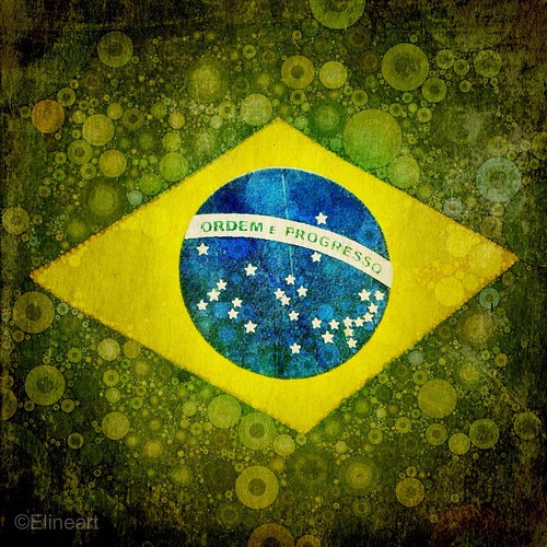 28:365 Brazilian Flag Art by elineart