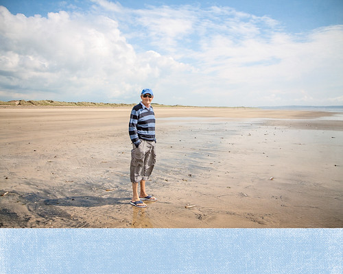 Mr B on Saunton Sands