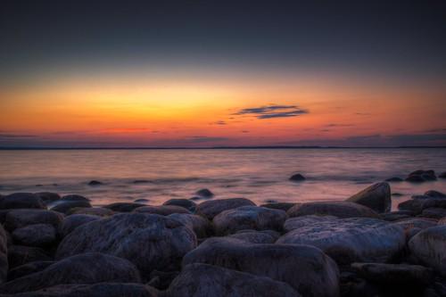 sunset canon rocks vermont vt burtonisland
