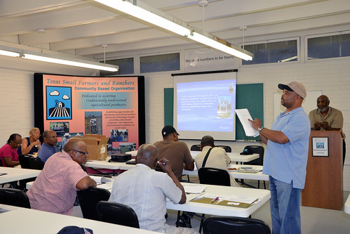 Willie Holmon, soil conservationist with the NRCS in Bryan, gave a soil survey map review presentation.