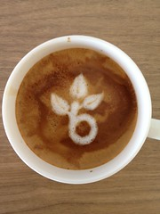 Today's latte, Beanstalk.