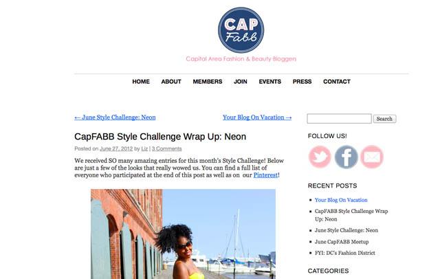 CapFABB, june 28 2012 neon challenge, style challenge, fair vanity fair trade