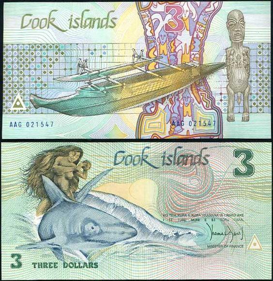 3 Doláre Cookove ostrovy 1987, Pick 3