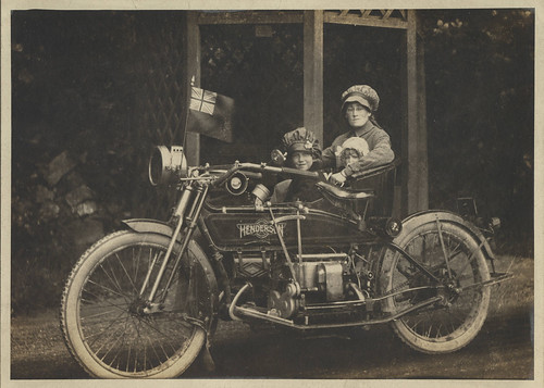 Henderson Motorcycle and sidecar