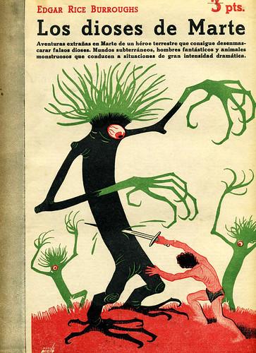 "Manolo Pireto - Illustration for Edgar Rice Burroughs ""The Gods Of Mars"" (1947 Spanish Edition)"