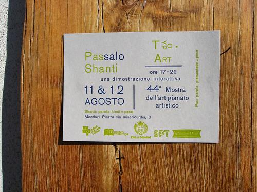 Passalo Shanti volantino :: flyer