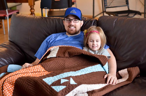 gamer quilt in use