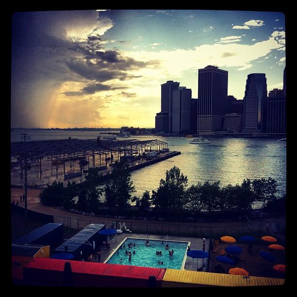 Pop up pool in Brooklyn