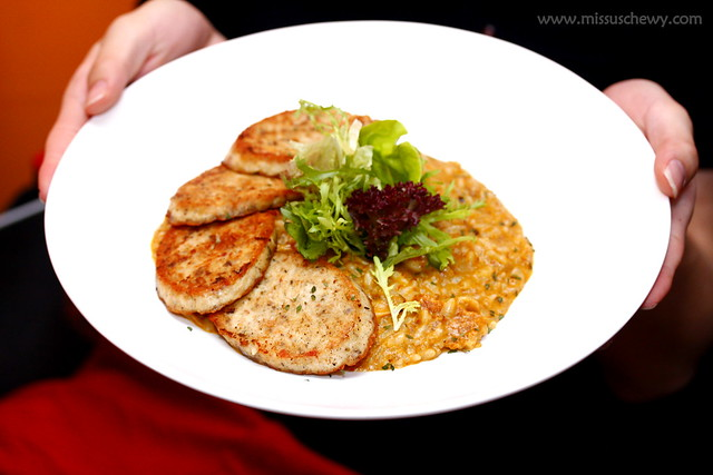 Laksa Risotto with Homemade Sausage $18.80