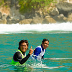 Semi-finalist Garut Widiarta (left) and former two-time Padang champ Bol Adi Putra.<br />