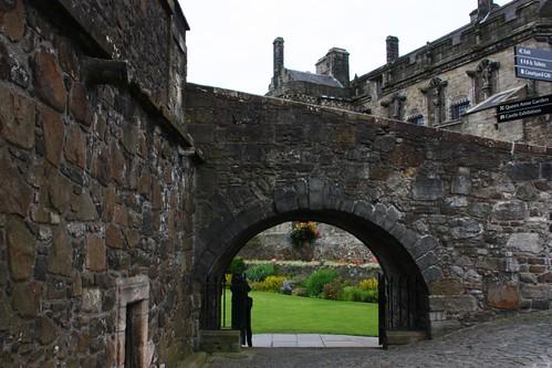 Into the garden at Stirling Castle