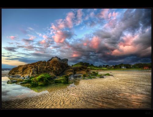 sunset cloud beach nikon brittany bretagne hdr topaz pabu photomatix d300s kemoauc