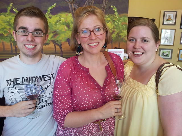 Wine tasting at Trio in Walla Walla