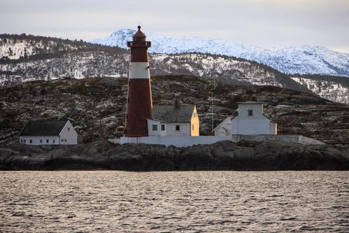 Lighthouse In Falling Snow, Vestfjorden