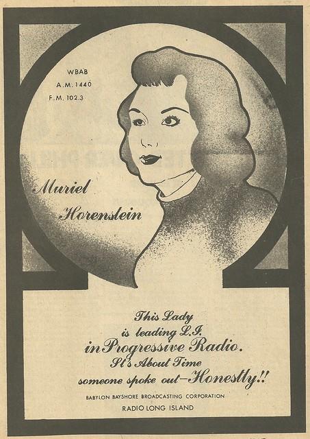 1975 WBAB - Muriel Horenstein Radio Ad (Creem Magazine)
