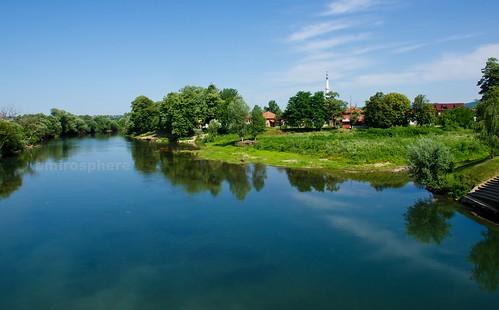 blue summer favorite nature reflections river pentax outdoor hometown bosnia dslr sana k5 hemma bosnaihercegovina prijedor pentaxart