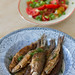 Praetud rääbised / Pan-fried vendace and tomato salad /  Coregonus albula