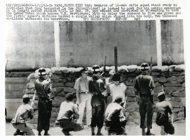 Da Nang 1965 - Rifle Squad Stands Ready for Execution of Terrorist Le Dua