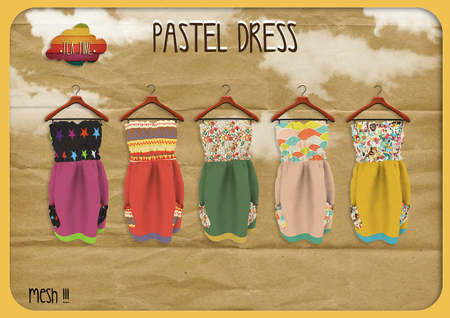 PASTELS DRESS *Tea Time* mesh NEW!!!
