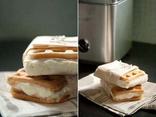 Lemon-Rosemary Gelato Waffle-wiches