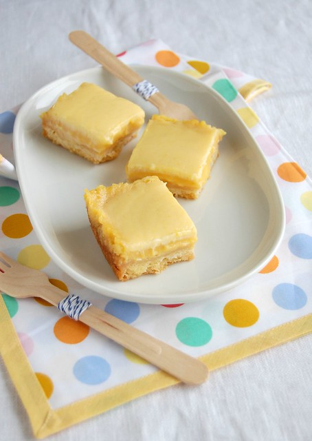 Orange cream bars / Barrinhas de laranja