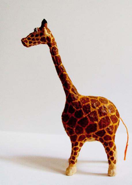 Жирафы из папье-маше своими руками