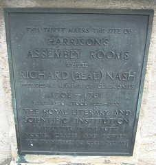 Photo of Richard 'Beau' Nash bronze plaque