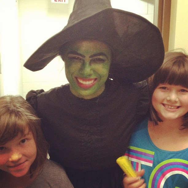 With the Wicked Witch of the West!