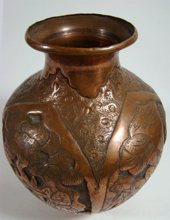 antiker islamische kupfer vase middle east antique copper. Black Bedroom Furniture Sets. Home Design Ideas
