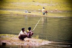 Fishing At Periyar Tiger Reserve, Thekkady, Kerala