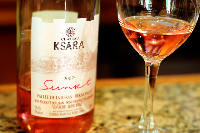 Rosé wine from Chateau Ksara, Lebanon