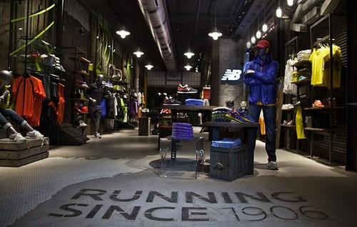 """New Balance tienda conceptual """"Past, present, future"""""""