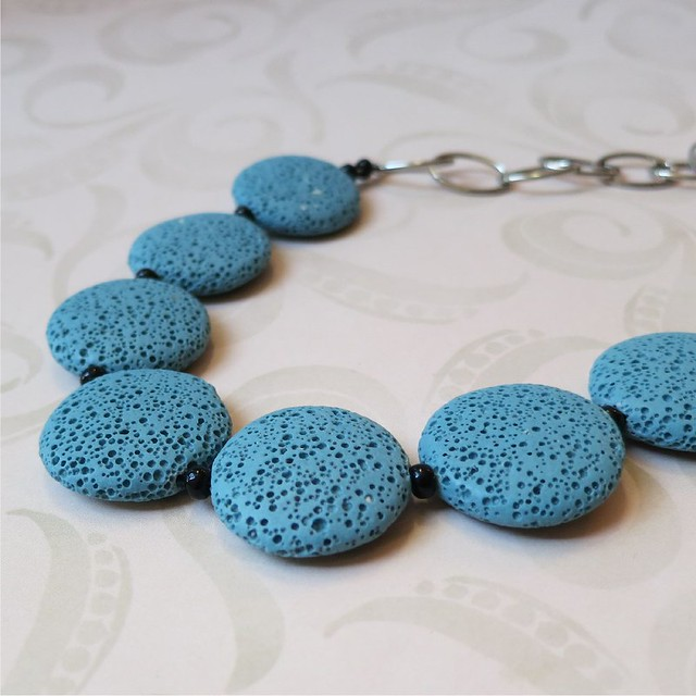 turquoise lava stone necklace