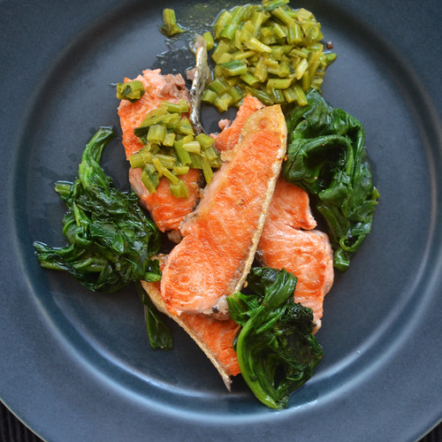 Salmon and Spinach by Hugo Alexandre Cruz