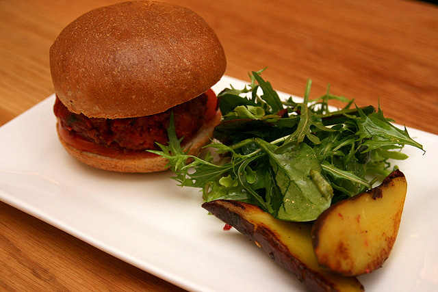The Beet Burger unfortunately has a patty that's too mushy