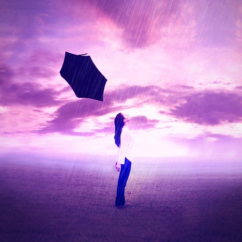 [フリー画像素材] 人物, 女性, 人物 - 目を閉じる, 雨 ID:201208272200