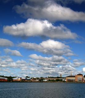 Clouds over Preston Docks