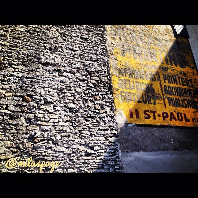 Stone Wall in Sunshine - Fading Sign for Print