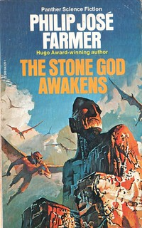 The Stone God Awakens by Philip Jose Farmer. Panther 1979. Cover artist Bruce Pennington