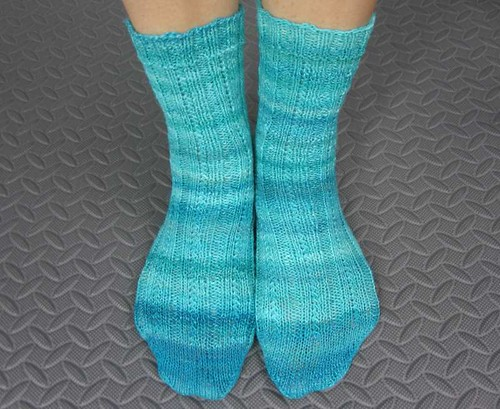 Simple Skyp Socks modeled
