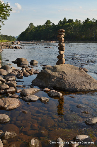 My 10-Stone Cairn on the banks of the Hudson River in Riparius, NY
