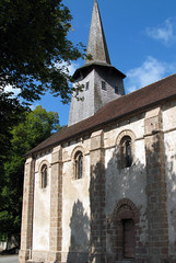 Nouziers (église) façade Sud 1a
