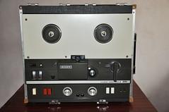 Restored Sony TC-500 reel to reel tape recorder.