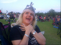 At @milleroutdoor for JAWS! My piranha hat is fabu.