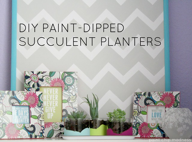 diy paint-dipped glass planters by paint chip madness