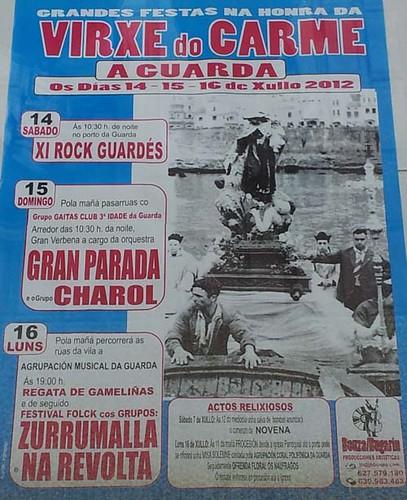 A Guarda 2012 - Festas do Carme - cartel