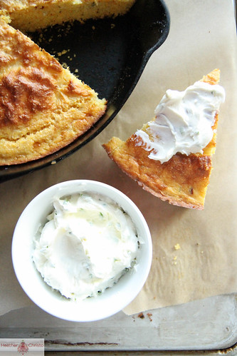 Rosemary Cornbread with Goat Cheese Butter
