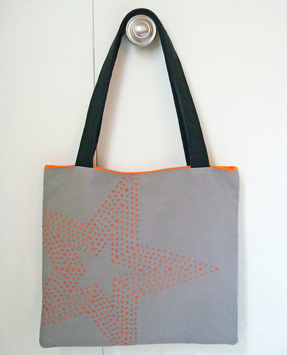 Sashiko star bag by ALittleWorld