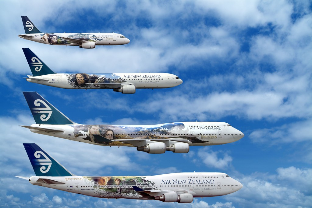 Air New Zealand Lord of the Rings Fleet