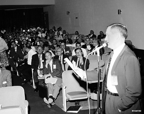 Agnew addresses audience 1969
